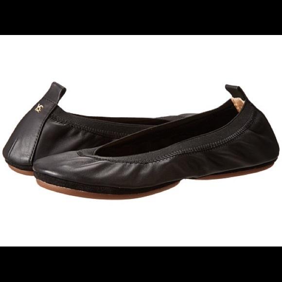 52571a46dc7 Yosi Samra NEW black ballet flats foldable